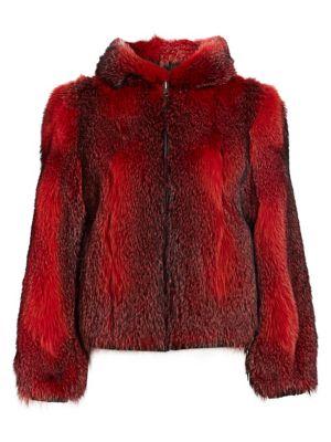 Fox Fur Hooded Jacket