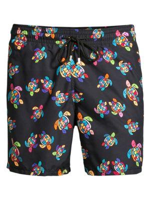 Over The Rainbow Turtles Swim Shorts