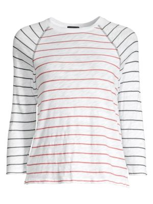 ATM ANTHONY THOMAS MELILLO | Slub Jersey Stripe Raglan Sleeve Tee | Goxip