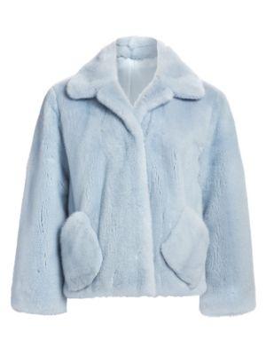 Zac Posen For The Fur Salon Collared Mink Fur Jacket