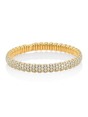 Stretch 18K Yellow Gold & Diamond Bracelet