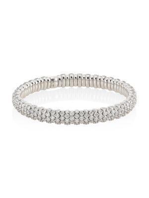 18K White Gold & Diamond Stretch Bracelet