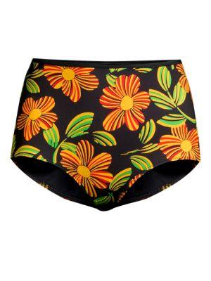 The Brigitte Floral High-Rise Bikini Bottoms