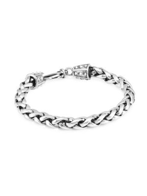 Espiga Sterling Silver Woven Bracelet