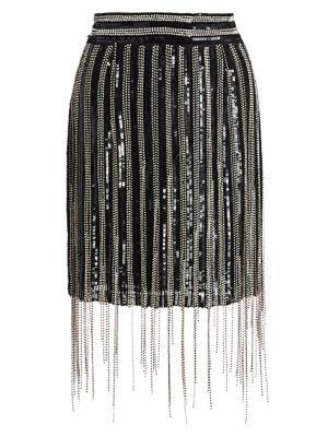 Fringe Mini Skirt