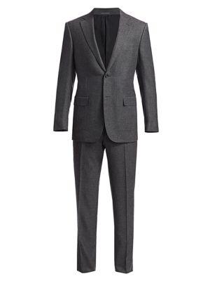 Solid Cashmere & Silk Suit