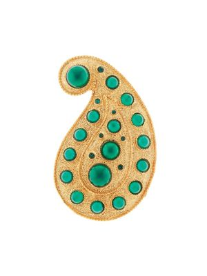 Taj Goldtone Embellished Brooch