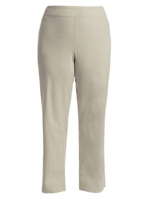 Linen Pull-On Wide Leg Pants