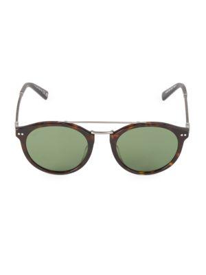Round 50MM Tortoise Sunglasses