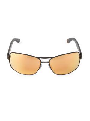 65MM Metal Navigator Sunglasses