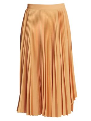 Ilky Pleated Midi Skirt