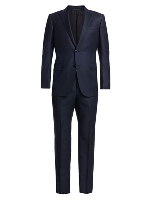Larger Box Plaid Wool Single-Breasted Suit