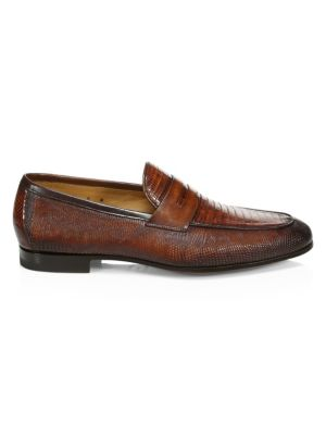 COLLECTION BY MAGNANNI Lizard Skin Penny Loafers