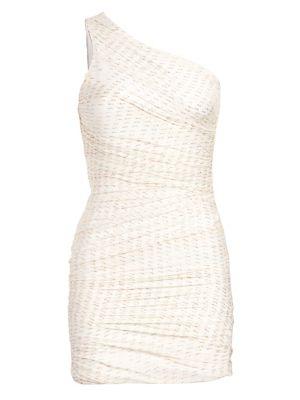 Tinsley One-Shoulder Drape Sheath Dress