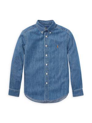 Little Boy's & Boy's Chambray Shirt