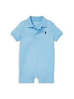 폴로 랄프로렌 남자 아기용 쇼트올 Polo Ralph Lauren Baby Boys Shortall,Blue