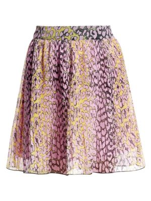 GANNI | Pleated Georgette Skirt | Goxip