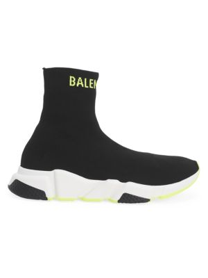 BALENCIAGA   Speed Sporty Knit High-Top Sneakers   Goxip