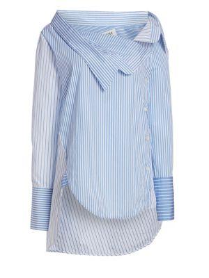 Asymmetric Pinstripe Shirt