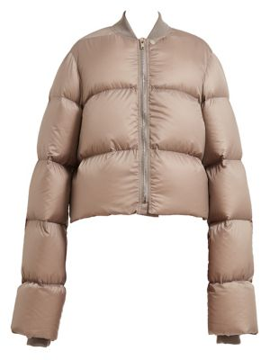 Down-Fill Cropped Duvet Jacket