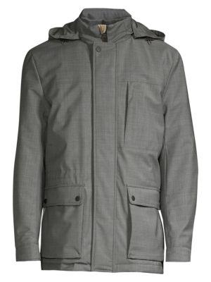 Modern-Fit Hooded Wool-Blend Coat