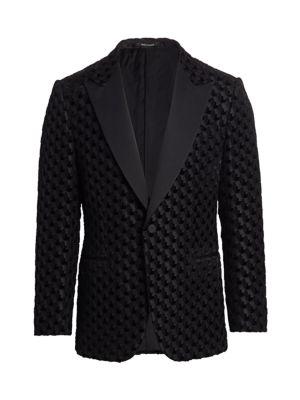 Velvet Burnout Wool & Silk-Blend Jacket