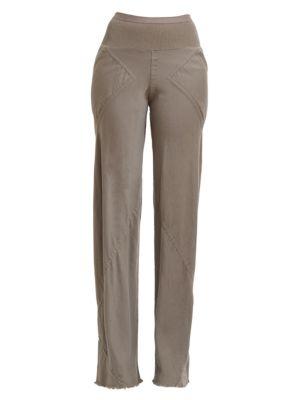 Bias Wool-Blend Pants