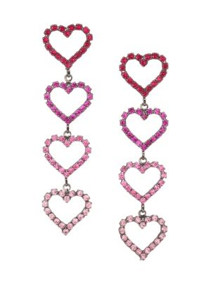Color of My Love Mila Swarovski Crystal & Austrian Crystal Heart Shape Drop Earrings