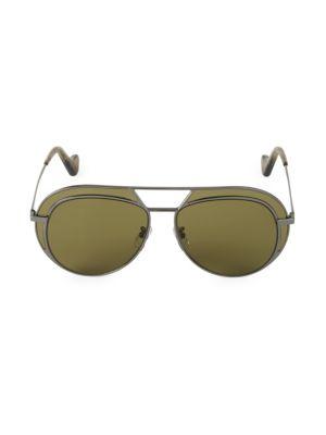 57MM Browline Aviator Sunglasses