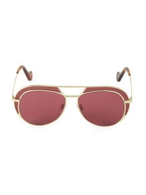 57MM Browline Aviator Sunglasses