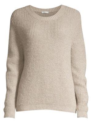 PESERICO | Metallic Ribbed Knit Sweater | Goxip