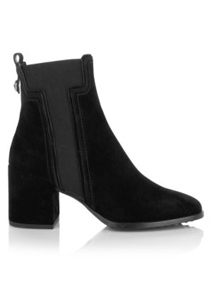 Elastic T Suede Chelsea Boots