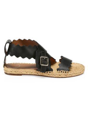 Lauren Flat Leather Sandals