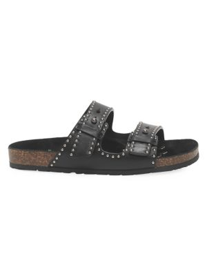 Jimmy Faux-Pearl Studded Leather Sandals