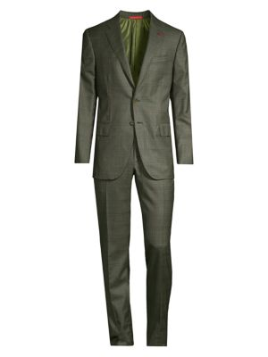 Delain Classic-Fit Plaid Wool Suit