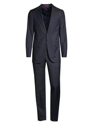 Aquaspider Strped Classic-Fit Wool Suit