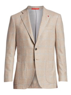 Classic-Fit Wool & Cashmere Plaid Sportcoat