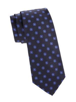 Floral Dot Silk Tie