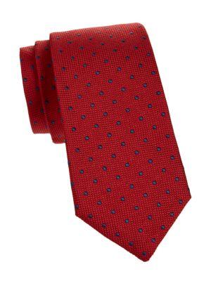 Dotted Textured Silk Tie