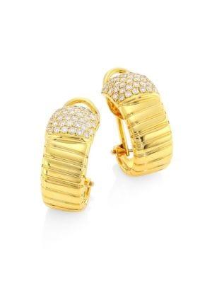Via Brera 18K Gold & Diamond Coiled Hoop Earrings