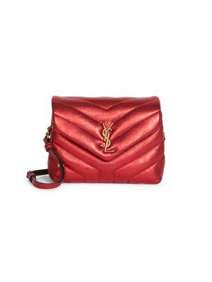 Toy Loulou Matelassé Metallic Leather Crossbody Bag