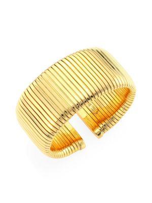 Via Bagutta 18K Gold Tubogas Cuff Bracelet