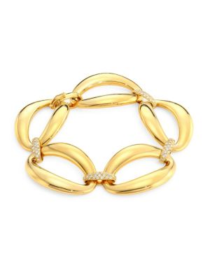 Via Senato 18K Gold & Diamond Link Bracelet