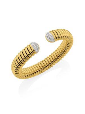Via Bagutta 18K White Gold & Diamond Flex Cuff Bracelet