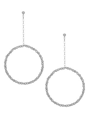 Limitless Platinum Front-Facing Hoop Post Earrings