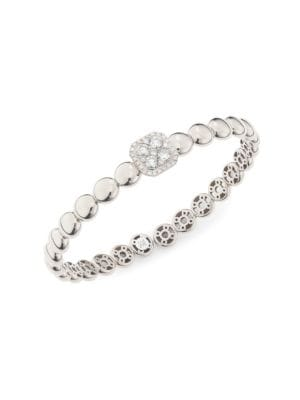 Via Brera 18K Gold & Diamond Bubble Cuff Bracelet