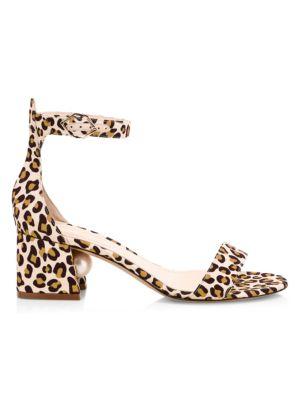 Miri Leopard-Print & Faux-Pearl Sandals