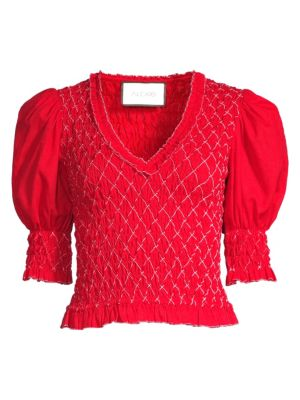 Atlan Shirred Blouse