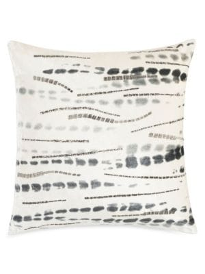 Onyx Beaded Abstract Throw Pillow