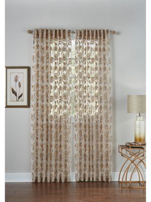 Bella Embroidered Sheer Curtain Panel